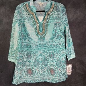 CHARTER CLUB | NWT 100% Linen Tunic Top Size XS
